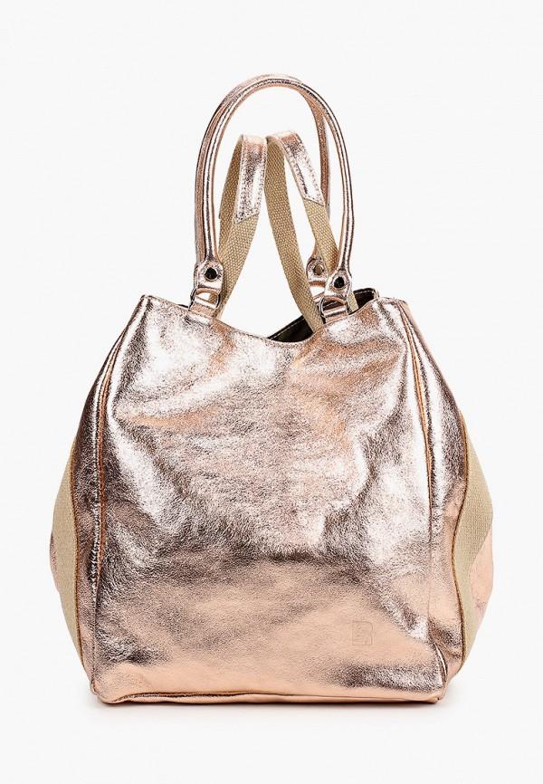 женская сумка-шоперы roberto buono, розовая