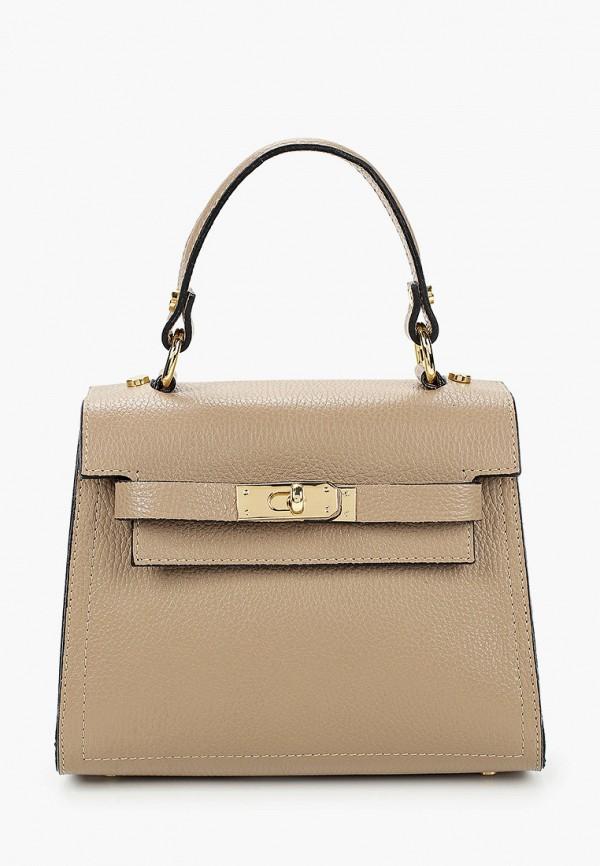 женская сумка roberto buono, бежевая