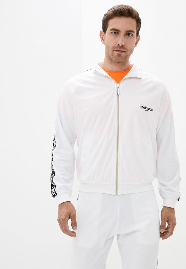 мужская олимпийка roberto cavalli sport, белая