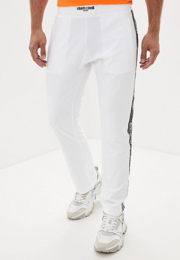 мужские спортивные брюки roberto cavalli sport, белые