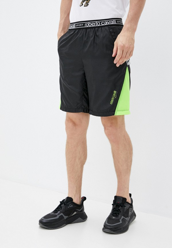 мужские спортивные шорты roberto cavalli sport, черные