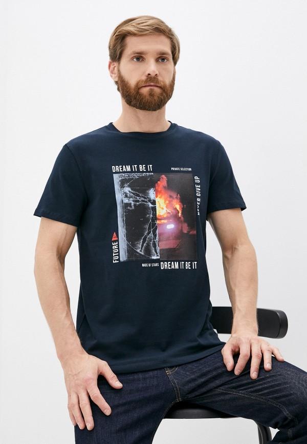 мужская футболка roberto cavalli sport, синяя