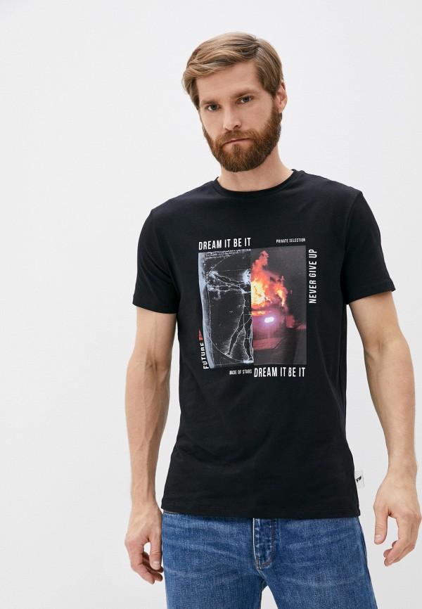 мужская футболка roberto cavalli sport, черная