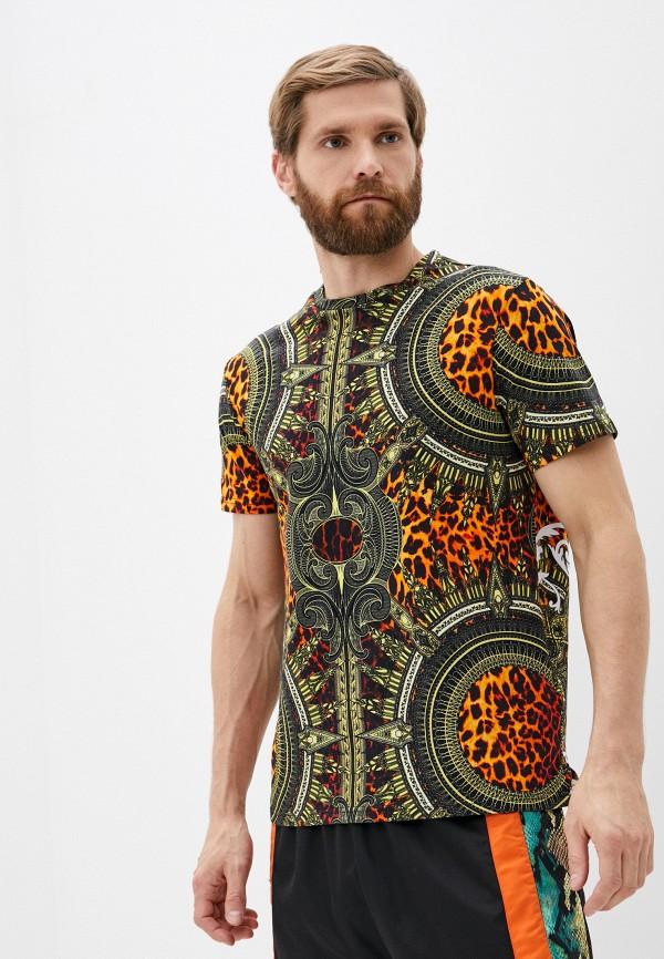 мужская футболка roberto cavalli sport, разноцветная