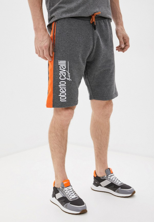 мужские спортивные шорты roberto cavalli sport, серые