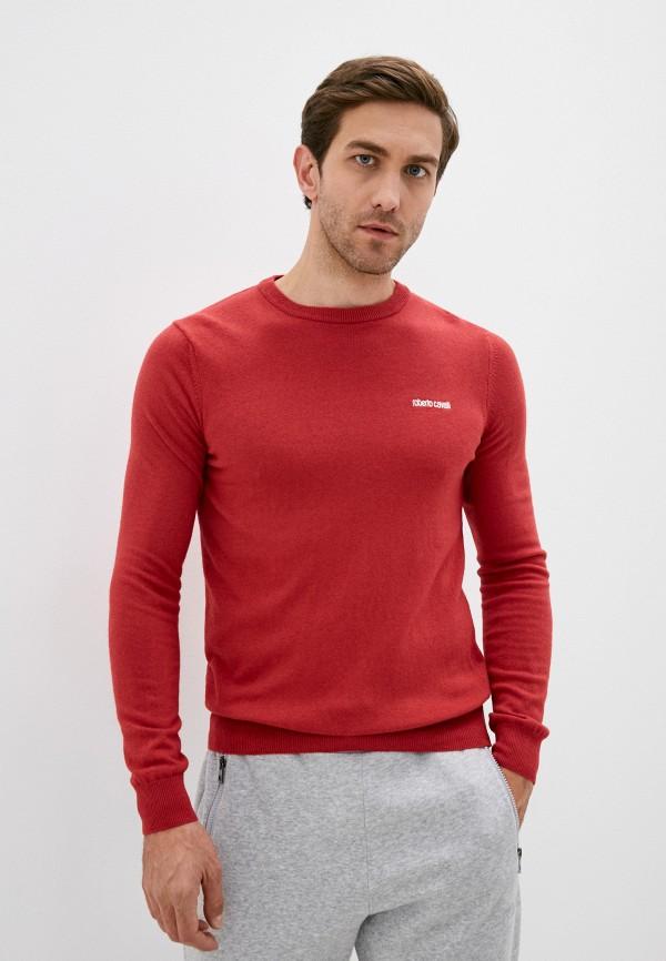 мужской джемпер roberto cavalli sport, красный