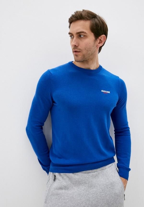 мужской джемпер roberto cavalli sport, синий