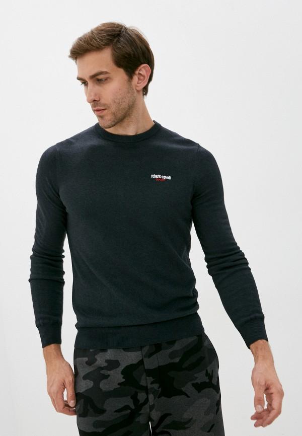 мужской джемпер roberto cavalli sport, серый