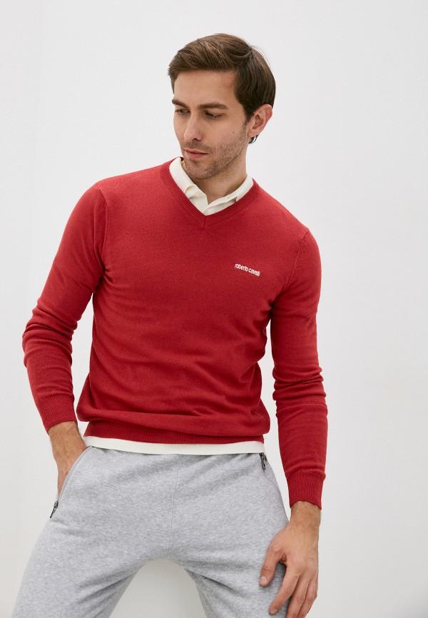 мужской пуловер roberto cavalli sport, красный