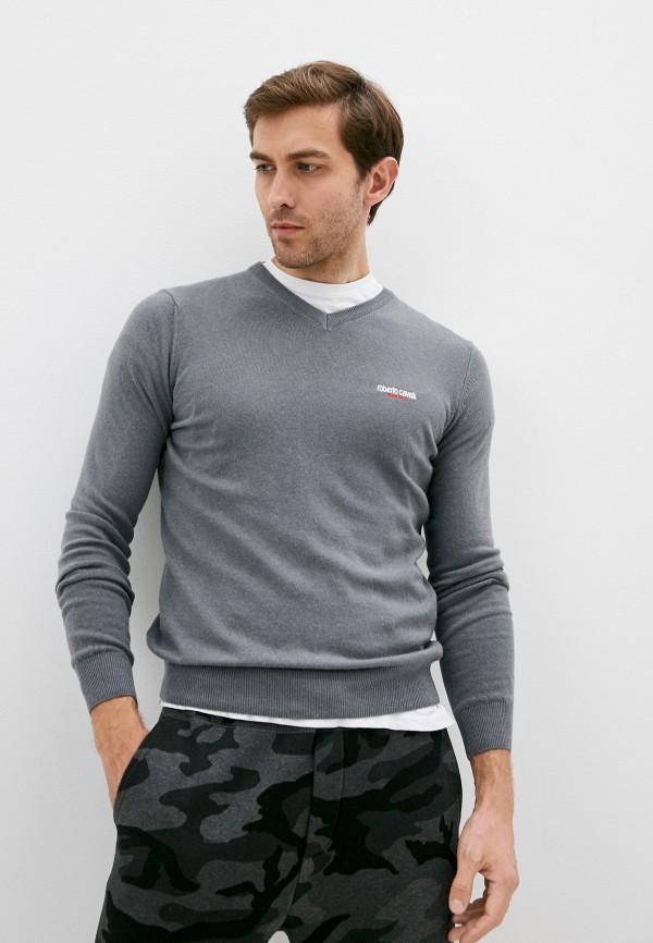 мужской пуловер roberto cavalli sport, серый