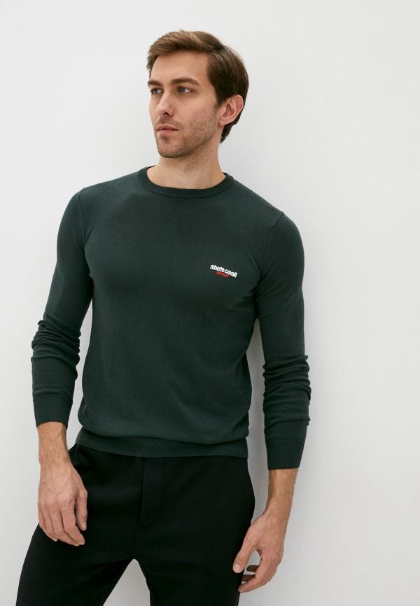 мужской джемпер roberto cavalli sport, зеленый