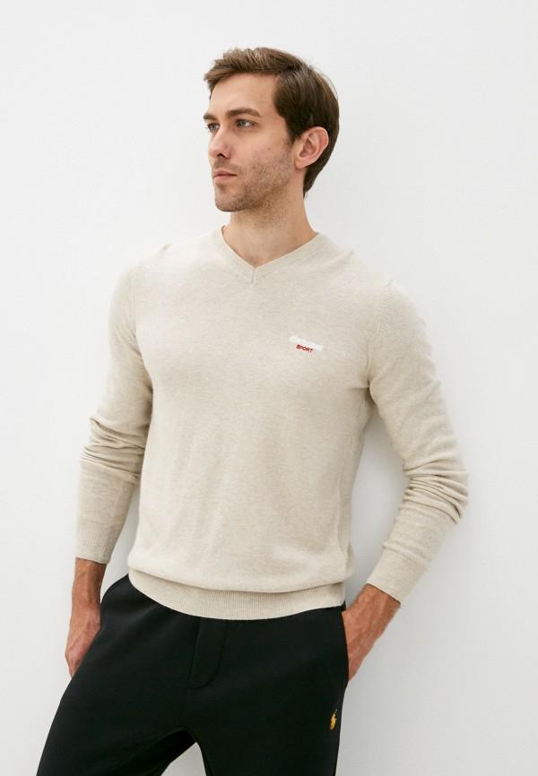 мужской пуловер roberto cavalli sport, бежевый