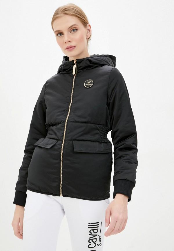 женская куртка roberto cavalli sport, черная