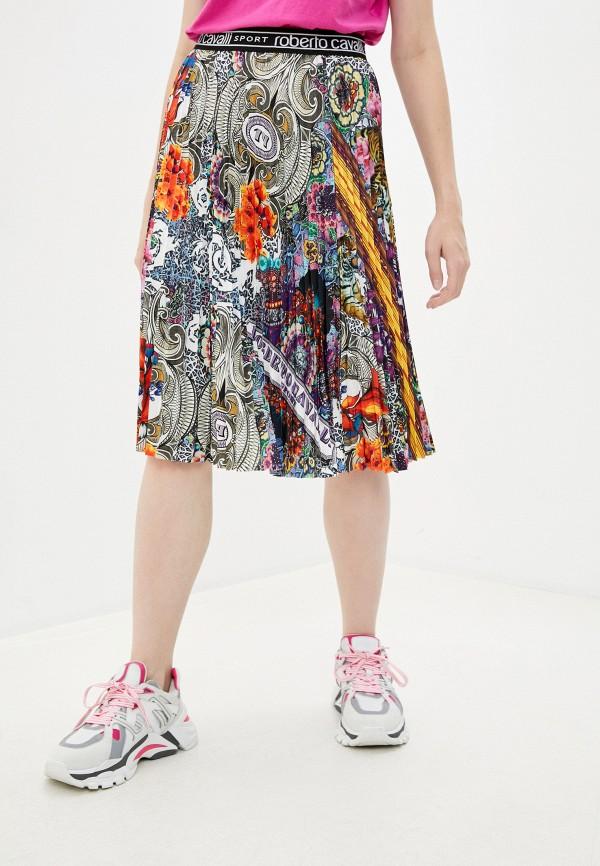 женская юбка roberto cavalli sport, разноцветная