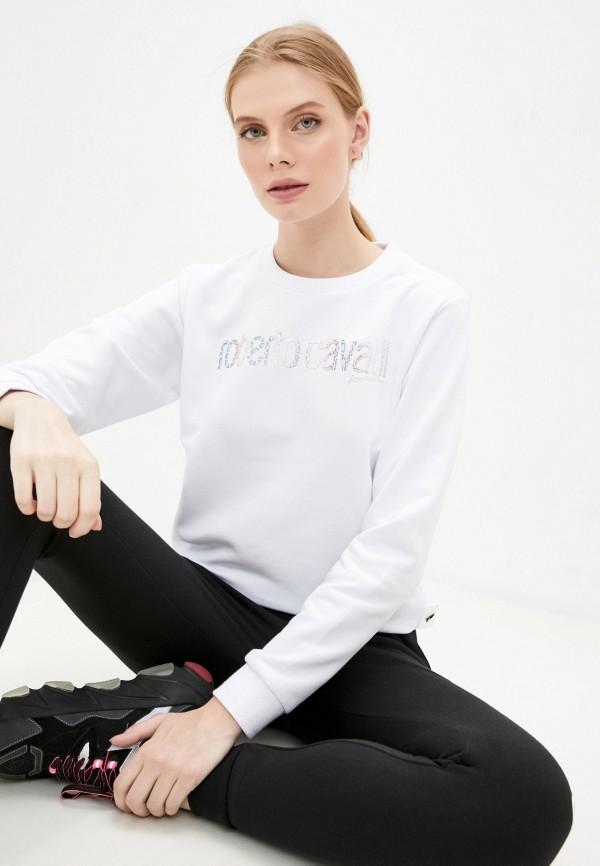 женский свитшот roberto cavalli sport, белый