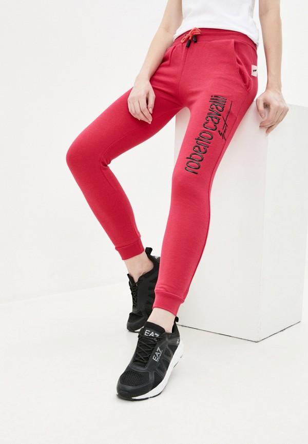 женские брюки roberto cavalli sport, розовые