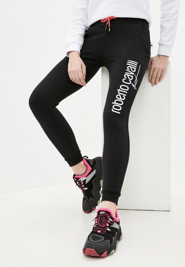 женские спортивные брюки roberto cavalli sport, черные