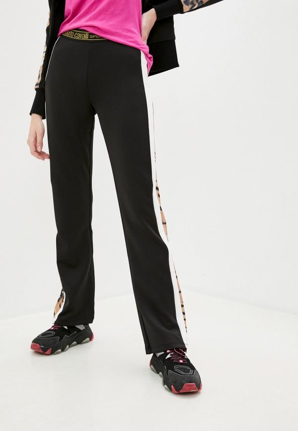 женские повседневные брюки roberto cavalli sport, черные