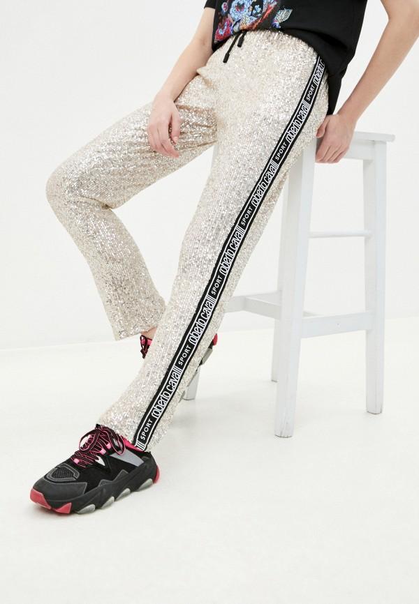 женские повседневные брюки roberto cavalli sport, бежевые