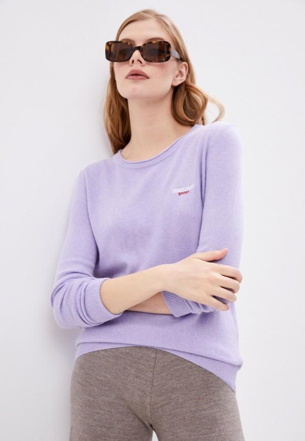 женский джемпер roberto cavalli sport, фиолетовый