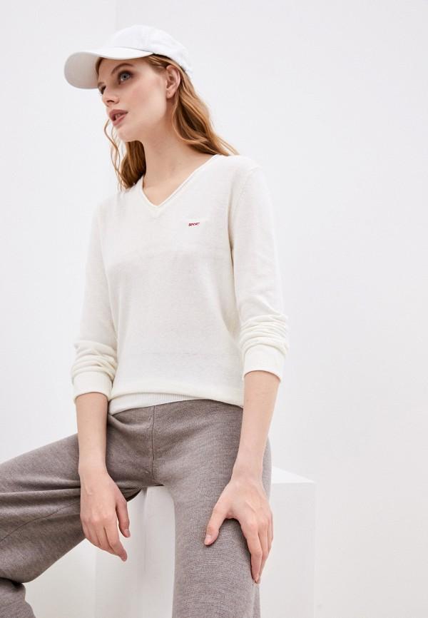 женский пуловер roberto cavalli sport, белый