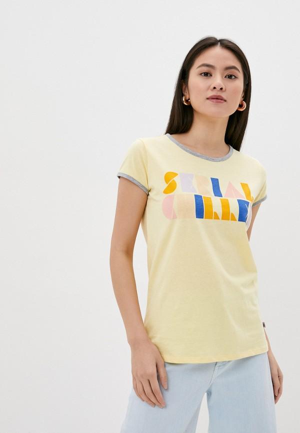 женская футболка rock angel, желтая