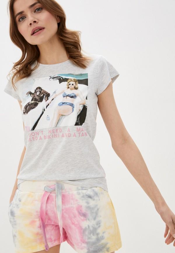 женская футболка rock angel, серая