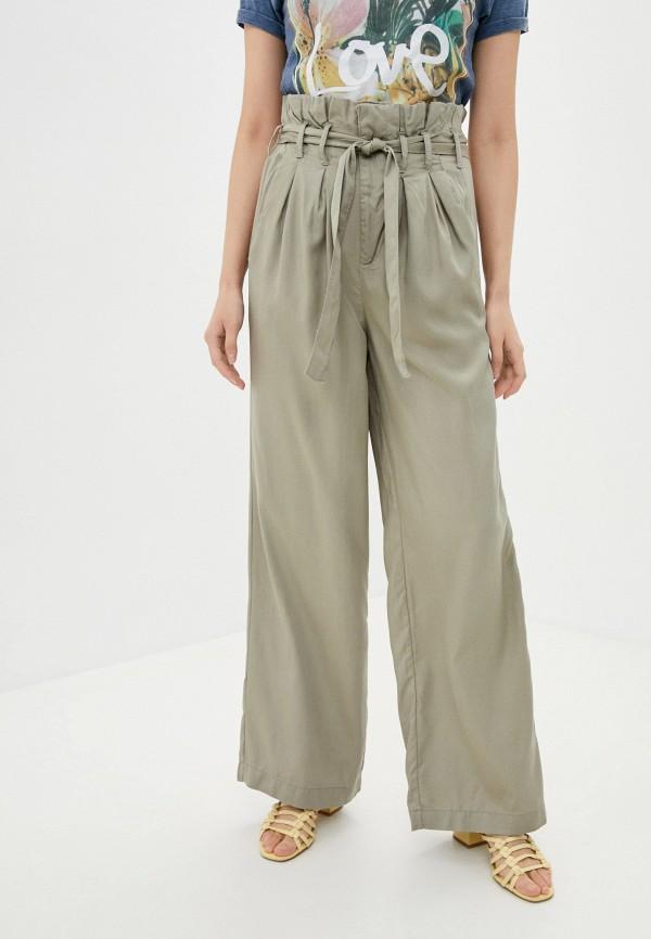 женские повседневные брюки rock angel, хаки