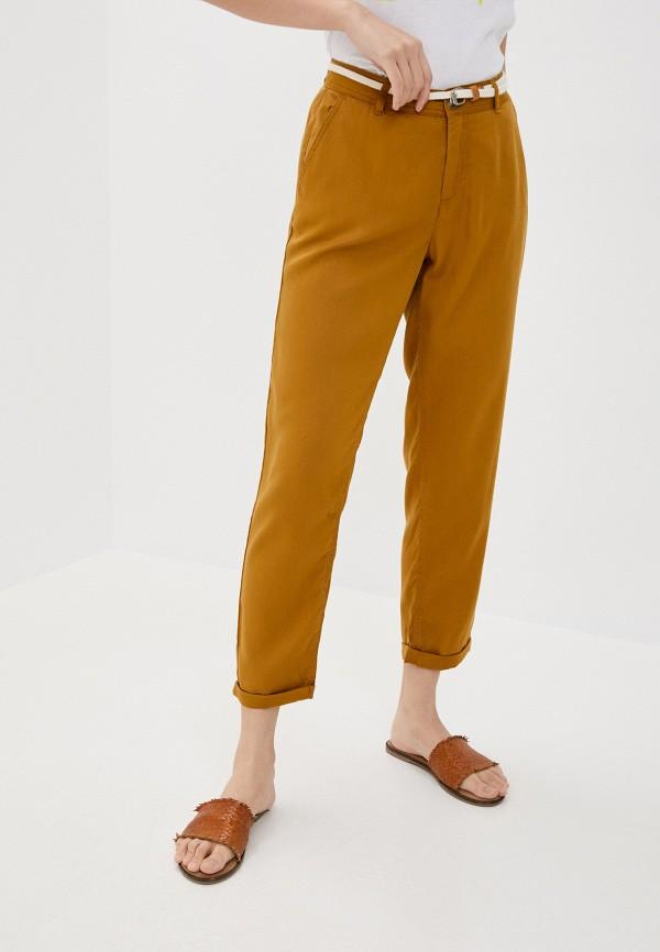 женские повседневные брюки rock angel, коричневые