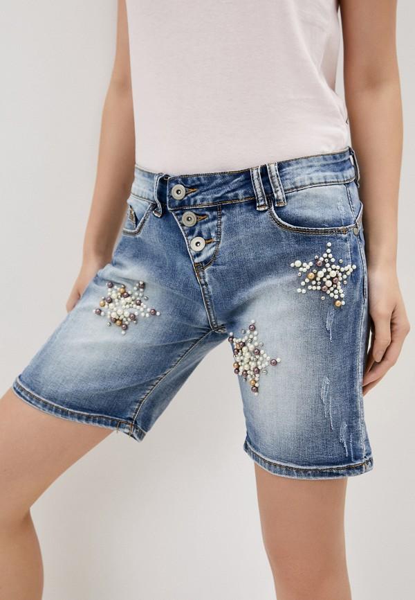 женские джинсовые шорты rock angel, синие