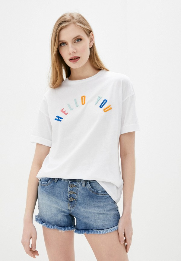 женская футболка rock angel, белая