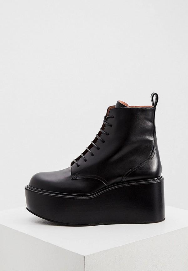 женские высокие ботинки rochas, черные