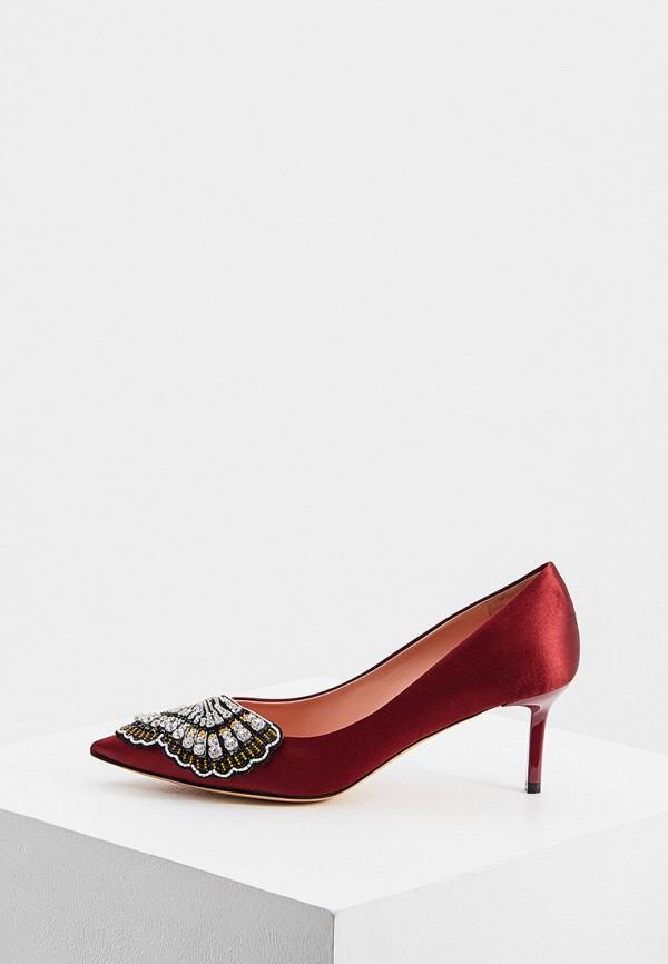 женские туфли rochas, бордовые