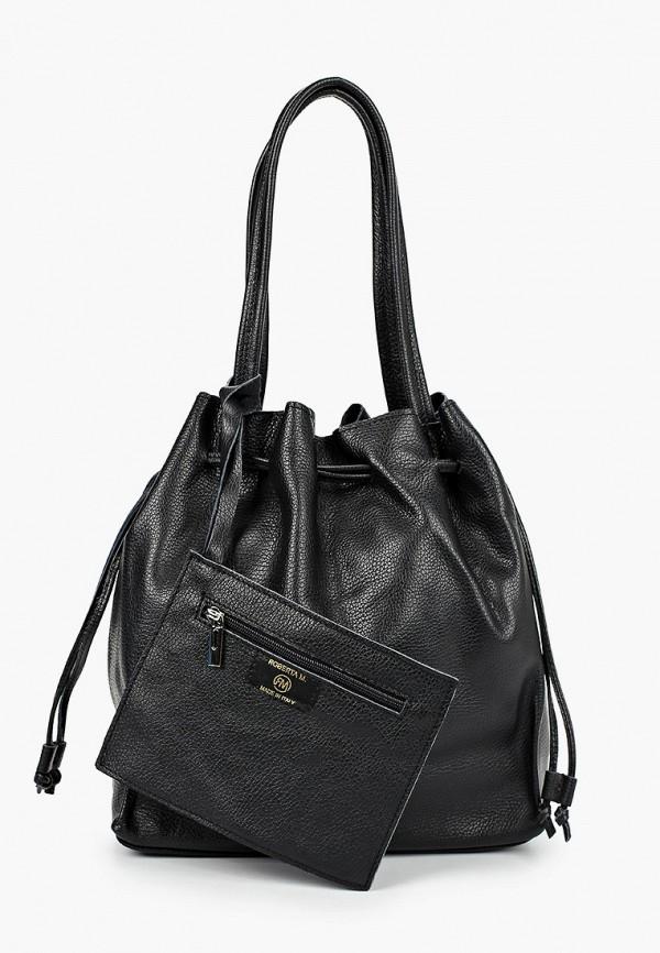 женская сумка roberta m, черная