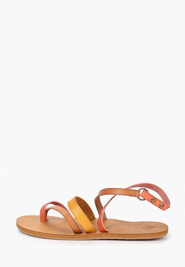 женские сандалии roxy, коричневые