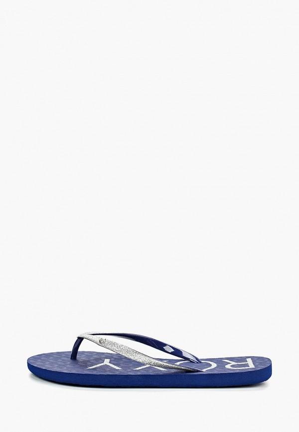 женские сланцы roxy, синие