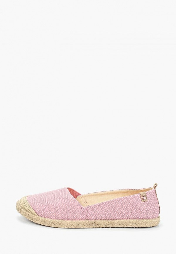 Купить Эспадрильи Roxy, FLORA II, ro165awegvp9, розовый, Весна-лето 2019