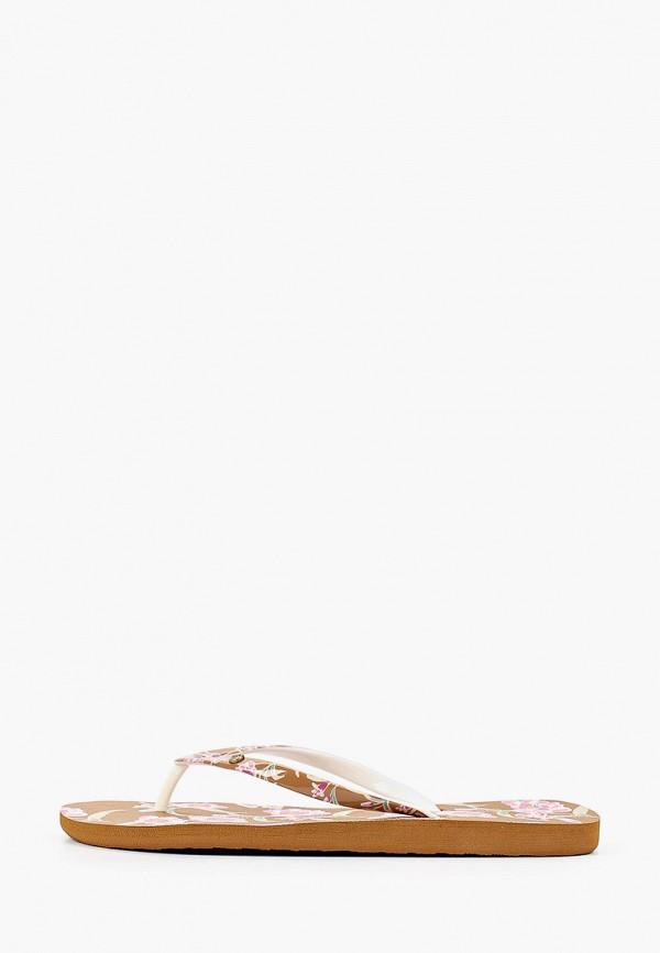 женские сланцы roxy, коричневые