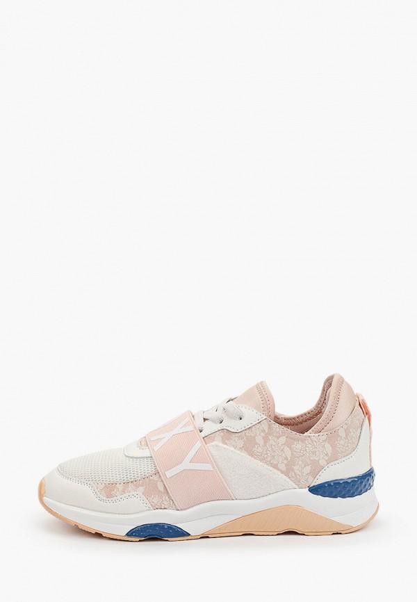 женские кроссовки roxy, розовые