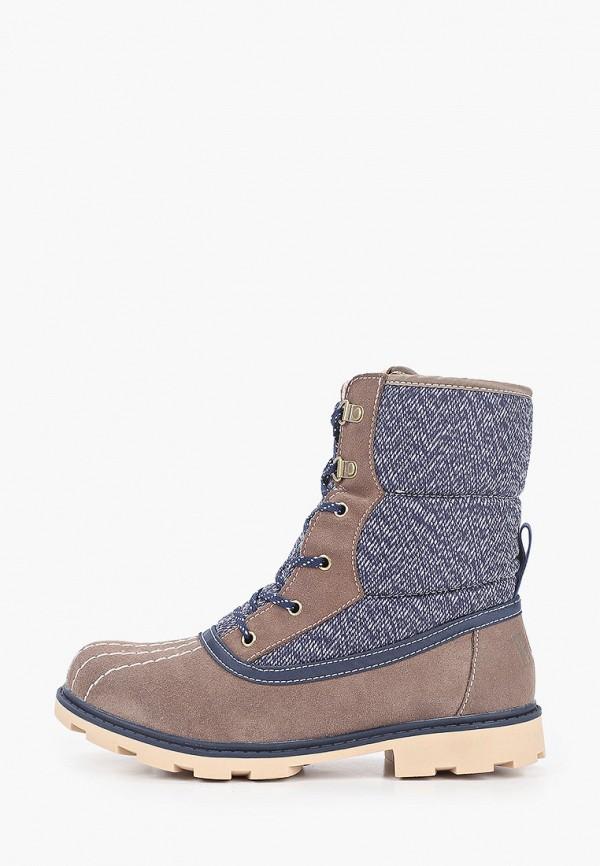 женские ботинки roxy, коричневые