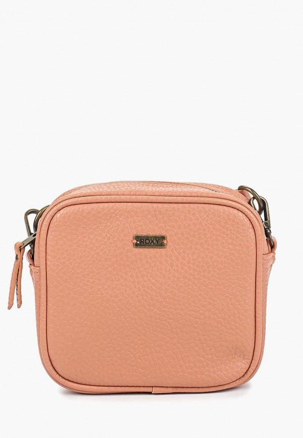 женская сумка через плечо roxy, розовая