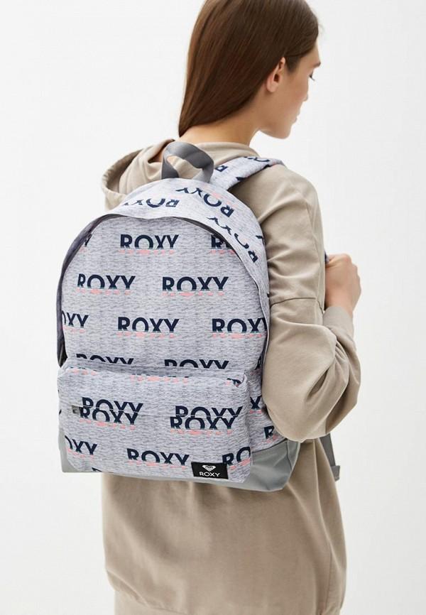 Фото 4 - женский рюкзак Roxy серого цвета