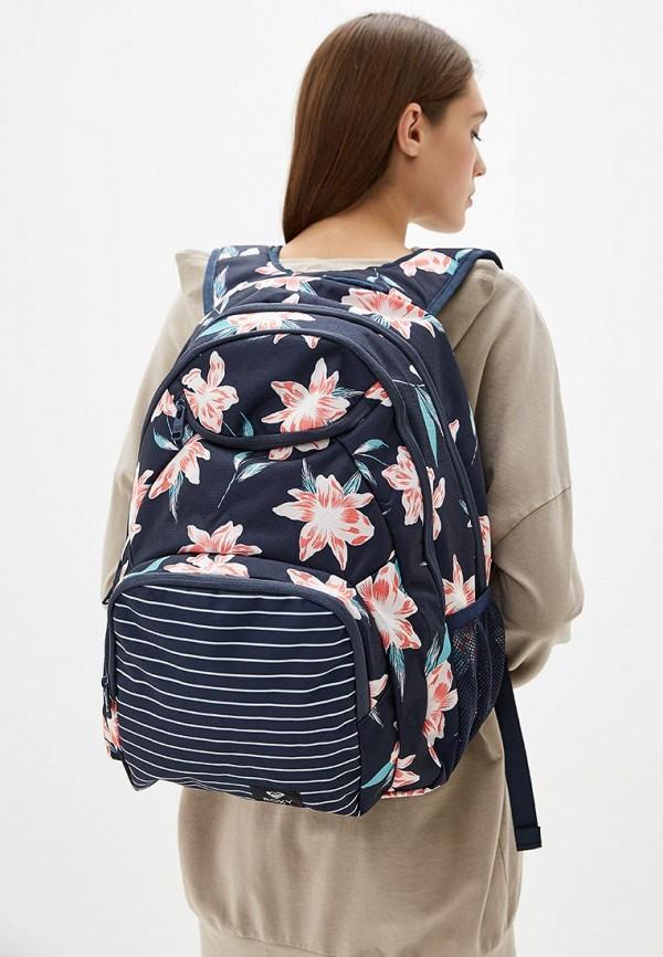 Фото 4 - женский рюкзак Roxy синего цвета