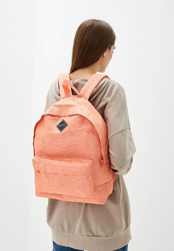 Фото 4 - женский рюкзак Roxy кораллового цвета