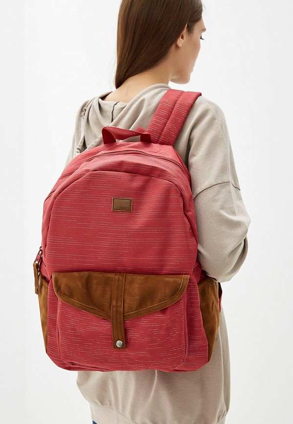 Фото 4 - женский рюкзак Roxy бордового цвета