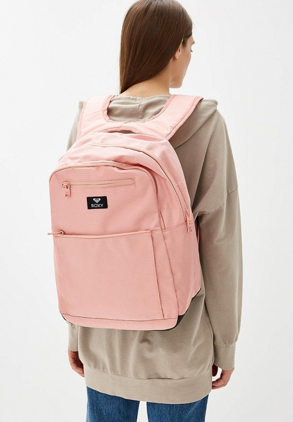 Фото 4 - женский рюкзак Roxy розового цвета