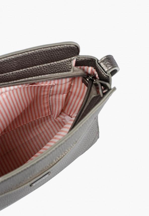 Фото 3 - Женскую спортивную сумку Roxy серого цвета