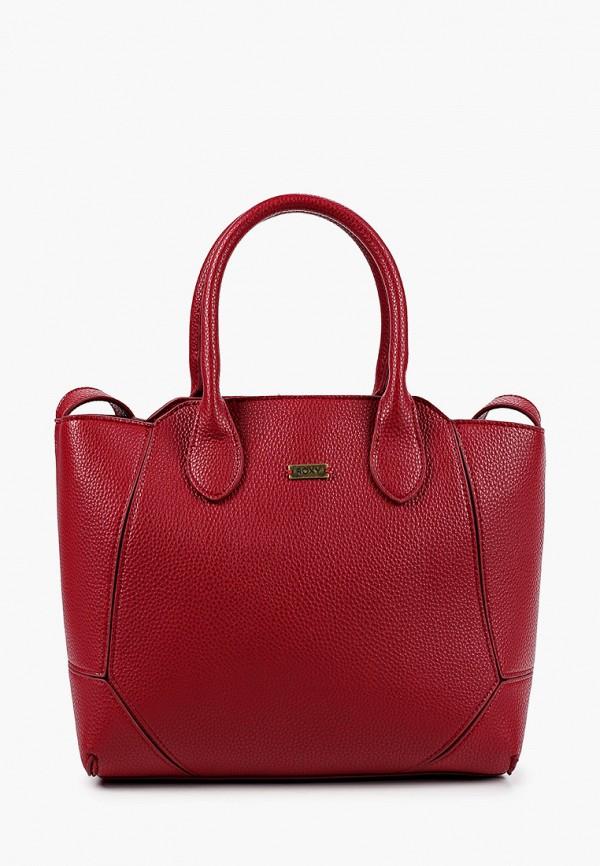 женская сумка roxy, бордовая