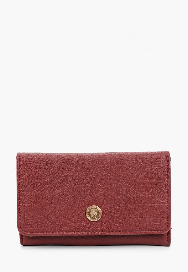женский кошелёк roxy, бордовый