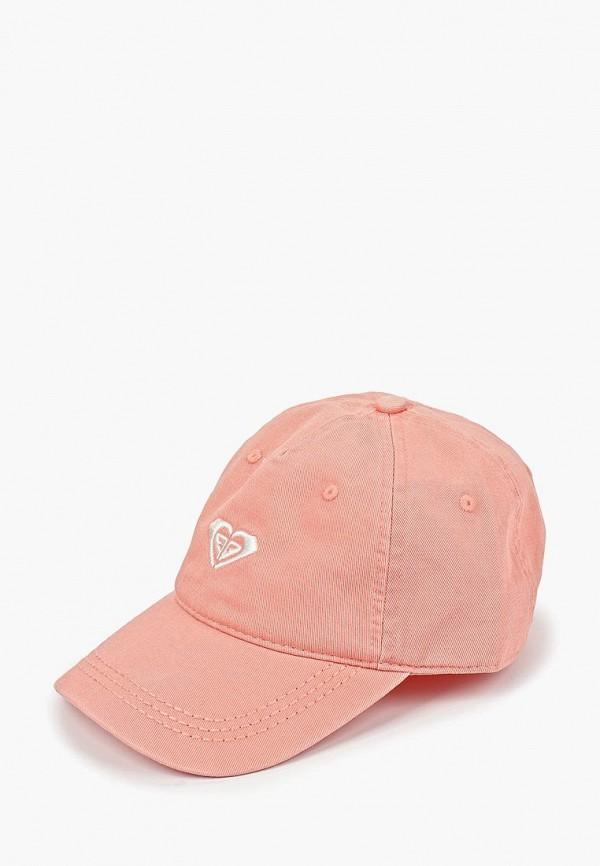бейсболка roxy для девочки, розовая